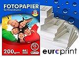 Fotopapier 200g 10x15 100 Blatt Hochglanz Cast Coated Wasserfest TOP