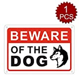 "aspire, Aluminiumschild Beware of Dog, Warnschild, einfache Montage, Beware of Dog/1pcs, 7"" W x 10"" L"