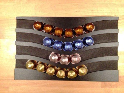 nero e bianc Portacapsule capstores distributore per 40 capsules tipo nespresso