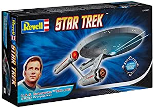 Revell Modellbausatz Star Trek - U.S.S. Enterprise NCC-1701 im Maßstab 1:600, Star Trek The Original Series, Level 3, originalgetreue Nachbildung mit vielen Details - 04880