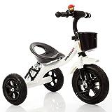 Fahrräder Kinderfahrräder Kinderfahrräder stilvolle Babyfahrräder dreirädrige 1-3-5-2-6-jährige Babyfahrräder tragbare Kindergeschenkfahrzeuge (Color : Weiß)