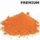 @tec Pigmentpulver, Eisenoxid, Oxidfarbe, Farbpulver Pigmentfarbe - 1kg Farbpigmente/Trockenfarbe für Beton + Wand - Farbe: orange