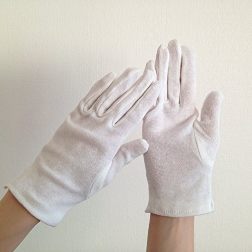 Preisvergleich Produktbild Blum - Handschuhe Größe M - 1 Paar in weiß - Keine Fingerabdrücke mehr bei der Reinigung von Apple iPhone | iPad | iPad Mini | iPad Air | iPad Pro | iMac | MacBook | MacBook Air | MacBook Pro | Watch