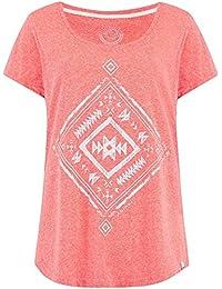 Animal Melon Orange MARL Ethnique Womens T-Shirt