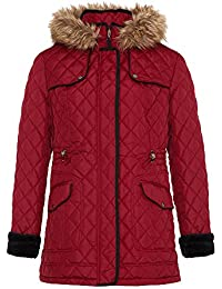 David Barry - Diamond Women's Quilted Faux Fur Winter Coat