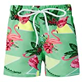 Funnycokid Childrens Nuoto Shorts Stampare Estate Cute Animal Flamingos Bambino Nuotare Boxer Pantaloncini 5-6 Anni
