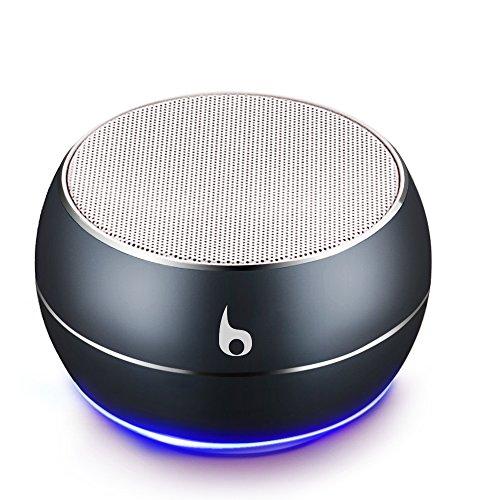OKE Mini Bluetooth Lautsprecher, Kabellos Tragbar Bluetooth Musikbox, Stereo Klang mit tiefem Bass, Metal Gehäuse, eingebautem Mikrophone für Freisprechen, AUX und MikroUSB Kabel, unterstützt Micro SD Karte (Grau)