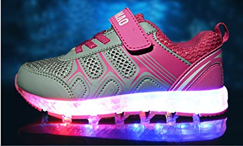 Kinderschuhe kinder Pink Jungen Kidslove Schuhe Kinder Sportschuhe Aufladen Usb Leuchtend Sneaker Turnschuhe Für 7 Pu Lichtfarbe Led Schuhe Mädchen PqrPxgf