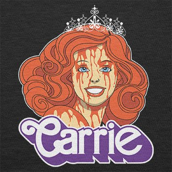 NERDO - Carrie - Damen T-Shirt Schwarz