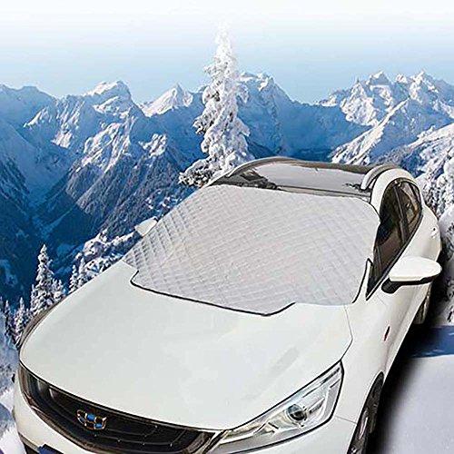FREESOO Scheibenabdeckung Auto Schneeabdeckung Windschutzscheibe Anti Frost Eis Staub Sonnenstrahle Aluminium Displayschutzfolie für Scheibenwischer L:190*123 CM