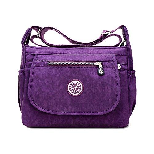 Sunray-buy - Borsa a tracolla donna Purple