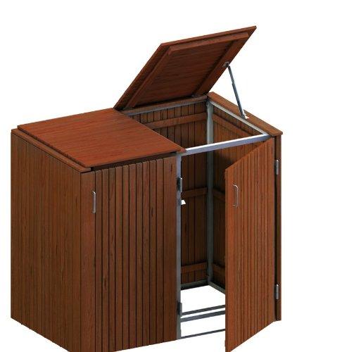 *BINTO Mülltonnenbox Hartholz, Müllbox System 16*