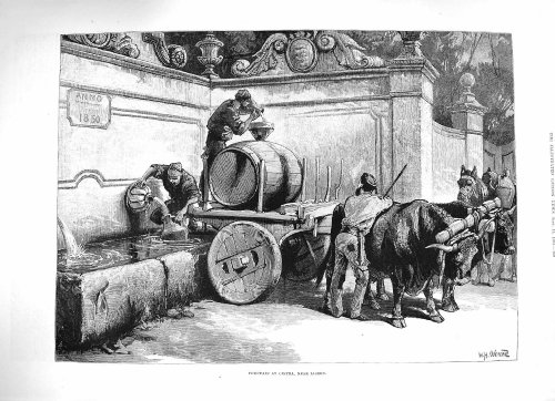 old-original-antik-viktorianischer-druck-1883-brunnen-cintra-lissabon-portugal-bullock-warenkorb-260