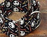 Martingal Hundehalsband: Jack & Bones Color, von Hand gefertigt in Spanien von Wakakán