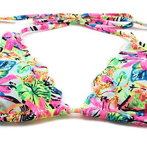 RELLECIGA set costume donna top bikini a triangolo con laccetti Jungle