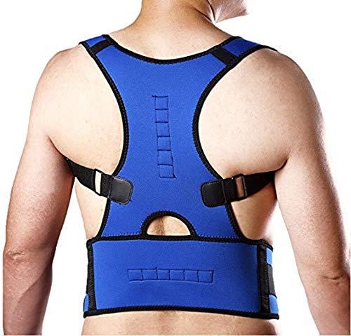 CJN Brust Rückenstütze Haltung Klammern, Voll Einstellbare Unterstützung, Verbesserte Körper Haltung Und Lendenwirbel Für Rücken Und Oberen Rückenschmerzen, Männlich Und Weiblich,Blue,S