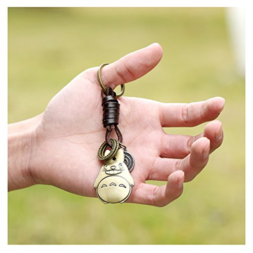 S&E Porte-clés/ Porte-clefs en forme d'apparence mignonne et différente, en Alliage avec Cuir Naturel, comme une petite décoration spéciale. brun 10