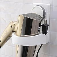 Secador de pelo con soporte de ventosa, montaje en pared, estante con soporte para