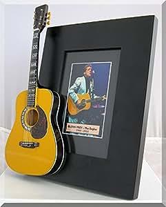 GLEN FRY Miniatur Gitarre Foto Rahmen Eagles