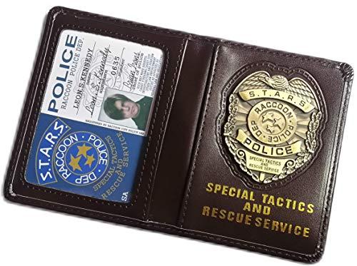 Resident Evil Biohazard S.T.A.R.S RPD Leon S Kennedy Ausweis-& Kartenhüllen Brieftasche | Chris Jill Wesker Cosplay (Leon Kennedy Kostüm)