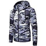 MRULIC Herren Sport Fitness Crewneck Modern Sweatshirt Langarmshirt Hoodie Warm Basic Streetwear RH-015(Grau,EU-52/CN-3XL)
