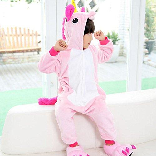 Tonwhar ® Children's Halloween Kigurumi Onesie Tier Costumes Kostüm für Kinder Pink Pegasus