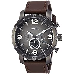 Fossil Nate Chronograph Grey Dial Men's Watch - JR1424I