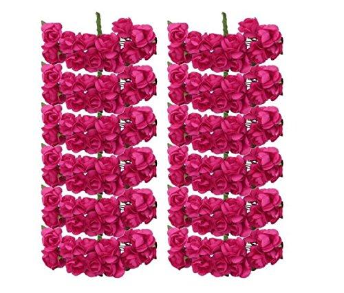 Fhouses Handmade Deko-Kranz Hochzeitskleid-Papier mit Candy-Girlande Simulation Medium, Rosa, rosa -...