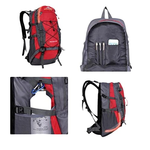 40L borsa da viaggio per il tempo libero all'aperto sacchetto impermeabile grande borsa di capacità di guida , sky blue Red