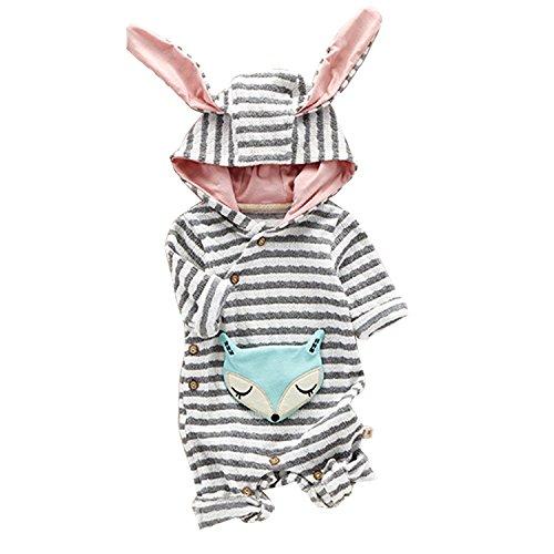 Funnycokid Strampler 1 PCs (0-24 Monate) Baby Jungen Mädchen Spielanzug mit kapuze Herbst Winter Warme...