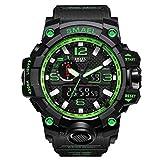 Armbanduhr Uhren Digitaluhr Wasserdichte Herren Sportuhren JSDTECH Military Watch für Männer und Jungen (Schwarz Grün)