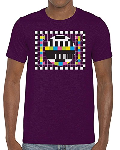 TV Test Card T-shirt for Men - 9 Colours - S to XXL
