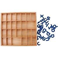 Sharplace Montessori Alfabetos Movibles Caja Letras Madera Juguete de Desarrollo de Niños