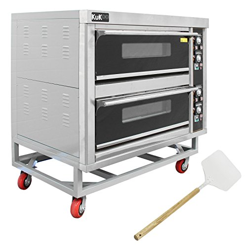 KuKoo Commercial Baking & Pizza Oven, Large Twin Deck Stone Base, Electric Single / Three Phase