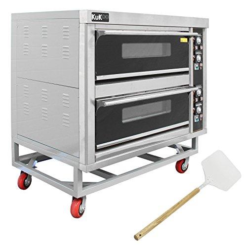 KuKoo - Horno Comercial para Cocinar Pizza y Otra Comida con 2...