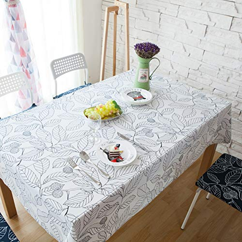 XLTWKK Mantel Decorativo Mantel de algodón Mantel Rectangular Cubierta de Mesa Decoración...