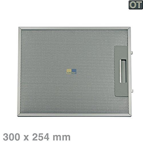 Metallgitterfilter Fettfilter rechteckig Metall 300x254mm Dunstabzugshaube Original Küppersbusch 505535 mit einseitiger Entriegelung EKD905. 0E 0J 0W KD605. 0E 0J 0W KD905. 0E 0J 0W