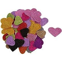 Veroda Cadena con forma de corazón de espuma 45pcsglitter Mixed adhesivo para niños manualidades otros Craft
