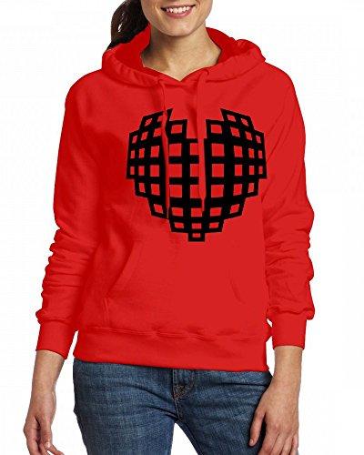 3d model heart Womens Hoodie Fleece Custom Sweartshirts Red