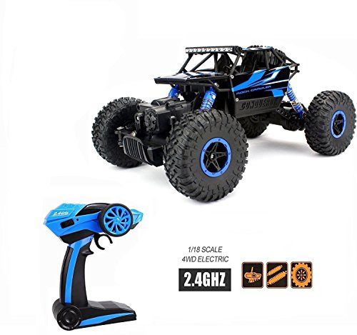 Coche de Radiocontrol RC 4WD YKS coche teledirigido niños camión eléctrico de todo terreno 2.4 GHz 1: 18 escala 25 + MPH excelente regalo juguetes para niños