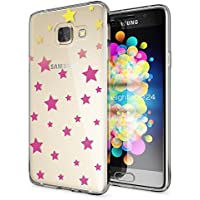 Samsung Galaxy A3 2016 Coque Protection de NICA, Housse Motif Silicone Portable Premium Case Cover Transparente, Ultra-Fine Souple Gel Slim Bumper Etui pour A3-16, Designs:Stars