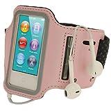 igadgitz Pink Rosa Reflektierende Anti-Rutsch Neopren Sports Armband Oberarmtasche Tasche Schutz Hülle Etui Case für Apple iPod Nano 7. Generation 16GB 7G
