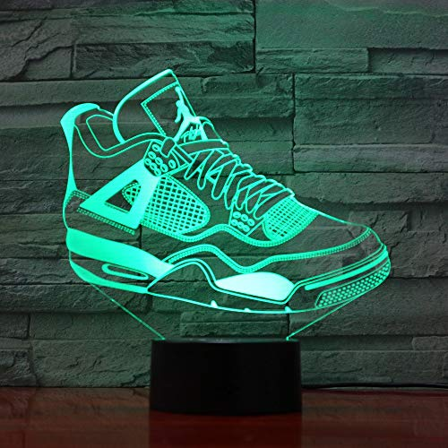 Neuheiten 3D Schuhe Lampe Sport Led-Licht Kinder Leuchtende Spielzeug Jungen Mädchen Baby 7 Farben Blinkende Lichter 1135 Drop Shipping