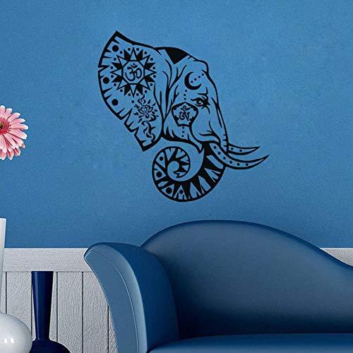 supmsds Adesivi murali in Vinile con Testa di Elefante Decorazioni murali amovibili con Decorazioni per pareti Carta da Parati di Alta qualità Murale Impermeabile S 80X80cm