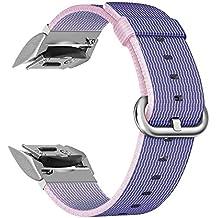 Fintie Bracelet Samsung Gear S2 - Bande de Remplacement Ajustable en Nylon Tissé pour Samsung Gear S2 SM-R720 / SM-R730 Smart Watch, Bleu
