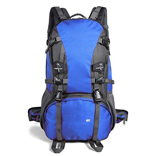 Sporttasche Outdoor Wasserdichte Bergsteigen Rucksack Large Capacity Travel Wandern Klettern Daypack,FruitGreen SapphireBlue