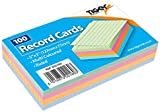 """1 x 100 Sheet Pack of Record Flash Cards Coloured Study Revision Coloured 5x3"""""""