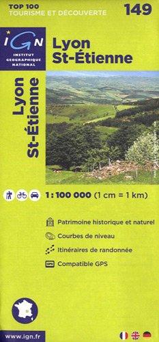 Top100149 Lyon/St-Etienne 1/100.000