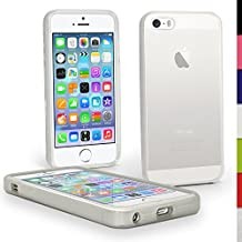 igadgitz Claro Case TPU Gel Funda Cover Carcasa para Nuevo Apple iPhone SE 5S 5 Teléfono Móvil 4G LTE + Protector de pantalla (no apto para iPhone 5C)