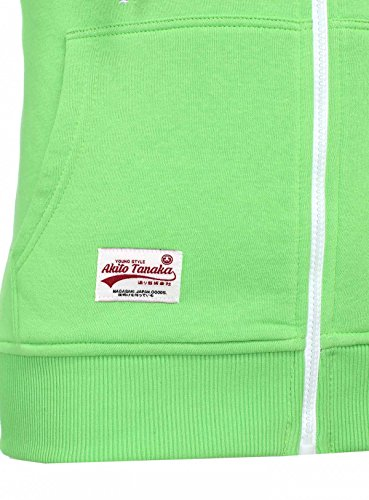 935a2b93742a ... AKITO TANAKA Herren Sweatjacke Zip Hoodie Sweatshirt 18110 Sweater mit Kapuze  Reißverschluss slim fit kontrast look ...